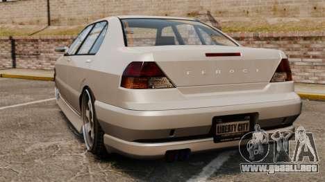 Feroci Drift Spec para GTA 4 Vista posterior izquierda