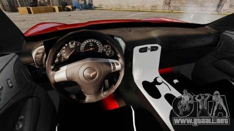 Chevrolet Corvette Z06 para GTA 4 vista hacia atrás
