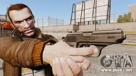 Walther PPK pistola autocargable v2 para GTA 4 tercera pantalla
