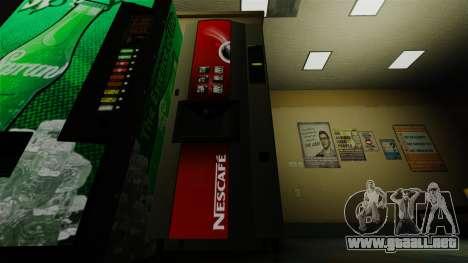 La máquina expendedora de oficina Nescafe para GTA 4 segundos de pantalla