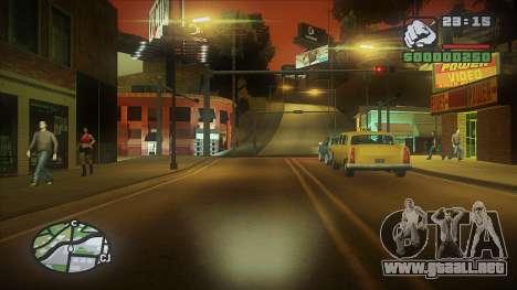 GTA HD Mod para GTA San Andreas sucesivamente de pantalla