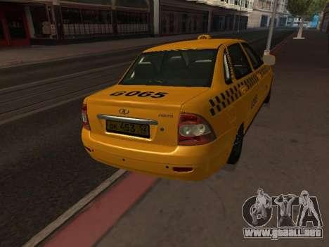 LADA Priora 2170 Taxi para la visión correcta GTA San Andreas