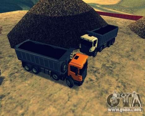 Scania P420 8X4 Dump Truck para vista inferior GTA San Andreas