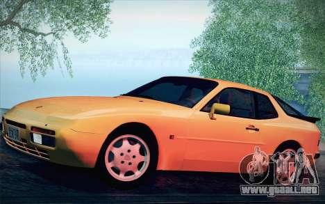 Porsche 944 Turbo Coupe 1985 para GTA San Andreas vista hacia atrás
