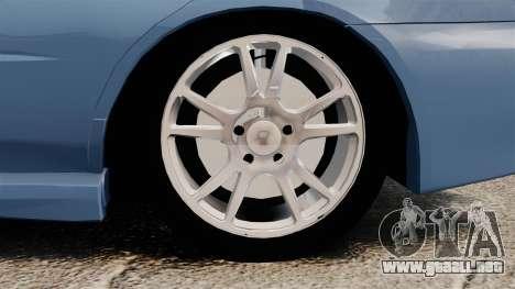 Subaru Impreza WRX 2001 para GTA 4 vista hacia atrás