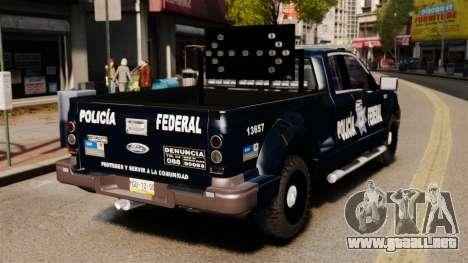 Ford F-150 De La Policia Federal [ELS & EPM] v2 para GTA 4 Vista posterior izquierda