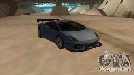 Lamborghini Gallardo LP560-4 Tuned para GTA San Andreas vista hacia atrás