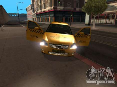 LADA Priora 2170 Taxi para GTA San Andreas left