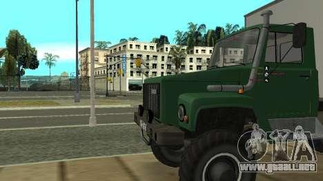 Avtolaboratoriâ GAZ 3309 Sadko para GTA San Andreas vista hacia atrás