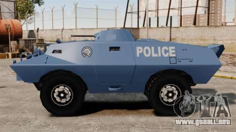 S.W.A.T. Police Van para GTA 4 left