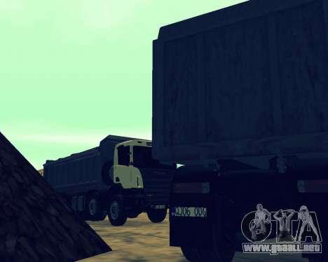 Scania P420 8X4 Dump Truck para el motor de GTA San Andreas
