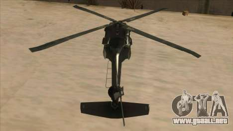 Sikorsky UH-60L Black Hawk Mexican Air Force para visión interna GTA San Andreas