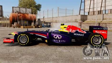 Coche, Red Bull RB9 v5 para GTA 4 left