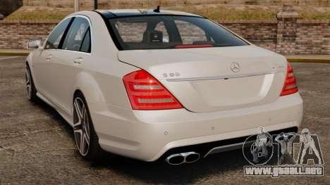 Mercedes-Benz S65 W221 AMG Stock v1.2 para GTA 4 Vista posterior izquierda