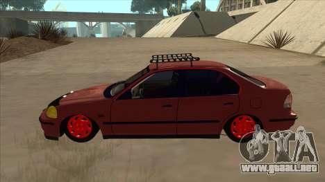 Honda Civic V2 BKModifiye para GTA San Andreas vista posterior izquierda