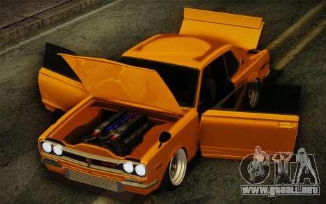 Nissan Skyline 2000GT-R Hoon para visión interna GTA San Andreas