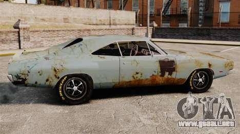 Dodge cargador RT 1969 oxidado v1.1 para GTA 4 left