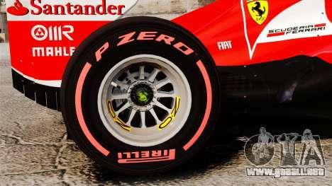 Ferrari F138 2013 v6 para GTA 4 vista hacia atrás