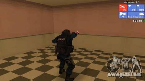 SWAT de piel para GTA San Andreas segunda pantalla