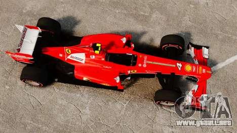 Ferrari F138 2013 v6 para GTA 4 visión correcta