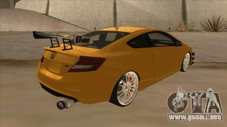 Honda Civic SI 2012 para la visión correcta GTA San Andreas