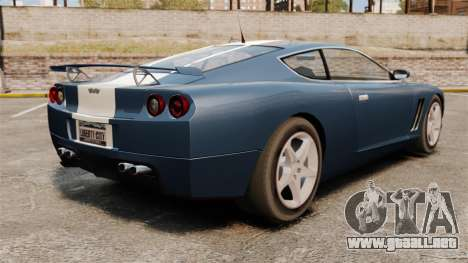 GT Super actualizado para GTA 4 Vista posterior izquierda