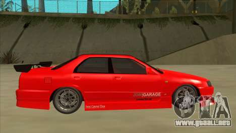 Nissan Skyline ER34 JDMGarage para GTA San Andreas vista posterior izquierda
