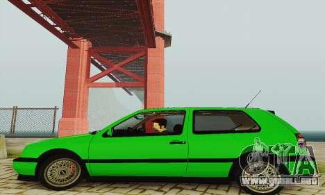 Volkswagen Golf Mk3 GTi 1997 para GTA San Andreas vista posterior izquierda
