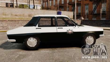 Renault 12 Classic 1980 Turkish Police para GTA 4 left
