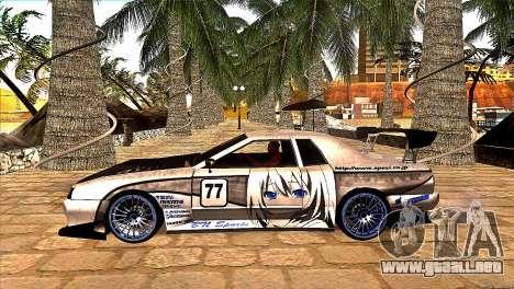 Elegy BN Nismo Sports para GTA San Andreas vista posterior izquierda