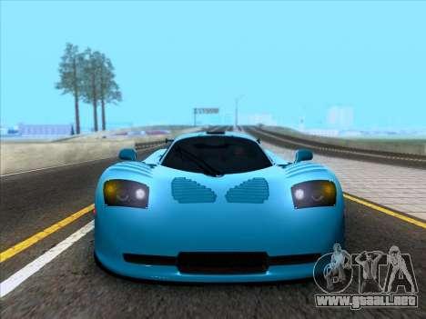 Mosler MT900S 2010 V1.0 para GTA San Andreas vista hacia atrás