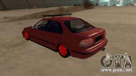 Honda Civic V2 BKModifiye para GTA San Andreas vista hacia atrás
