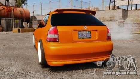 Honda Civic Gtaciyiz 2 para GTA 4 Vista posterior izquierda