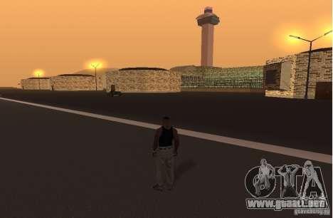 El nuevo aeropuerto, Los Santos para GTA San Andreas segunda pantalla