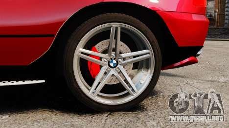 BMW X5 4.8iS v3 para GTA 4 vista hacia atrás