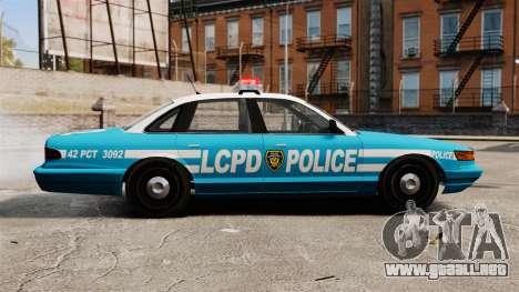 LCPD Police Cruiser para GTA 4 left