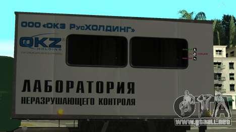 Avtolaboratoriâ GAZ 3309 Sadko para vista lateral GTA San Andreas