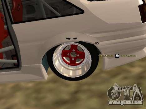 Toyota Corrola GTS JDM para GTA San Andreas vista hacia atrás