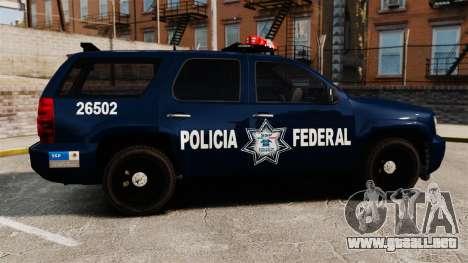 Chevrolet Tahoe 2007 De La Policia Federal [ELS] para GTA 4 left