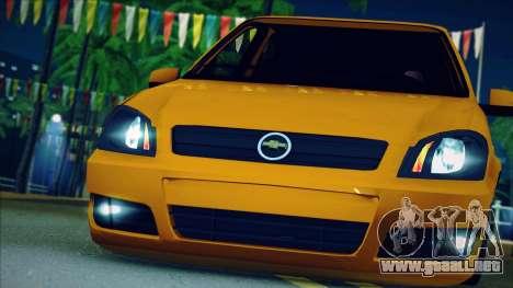 Chevrolet Celta para GTA San Andreas vista hacia atrás