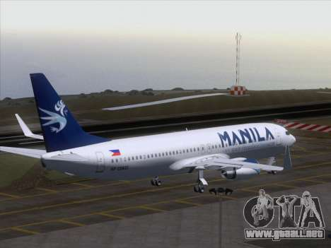 Boeing 737-800 Spirit of Manila Airlines para vista inferior GTA San Andreas