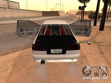 Toyota Corrola GTS JDM para GTA San Andreas left