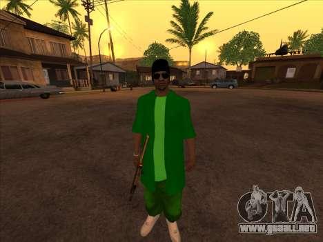 Nueva piel Groove st. para GTA San Andreas tercera pantalla