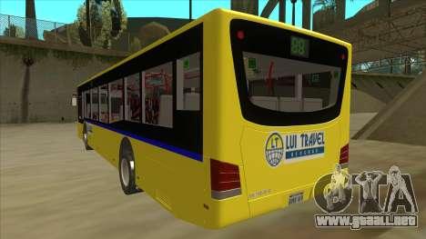 Bus Line 88 Novi Zeleznik para GTA San Andreas vista hacia atrás