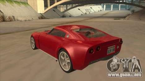 Melling Hellcat Custom para GTA San Andreas vista hacia atrás