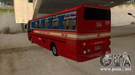 Bagong Lipunan Transit BM 384 para GTA San Andreas vista hacia atrás