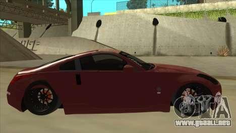 Nissan 350Z JDM para GTA San Andreas vista posterior izquierda