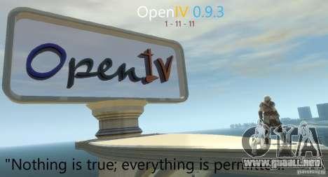 OpenIV 0.9.3 para GTA 4 segundos de pantalla