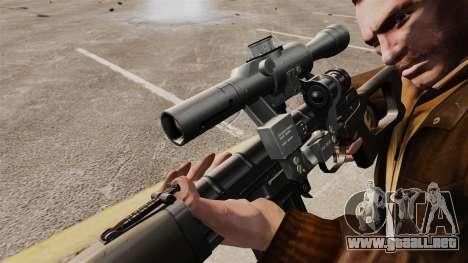 V1 de rifle de francotirador Dragunov para GTA 4 adelante de pantalla