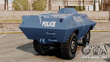 S.W.A.T. Police Van para GTA 4 Vista posterior izquierda
